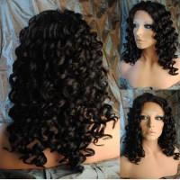 Front Lace Wig 100% cheveux Malésien Curly