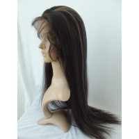 Full Lace Wig 100% cheveux péruvien Straight