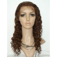 Full Lace Wig 100% cheveux brésilien Water wave