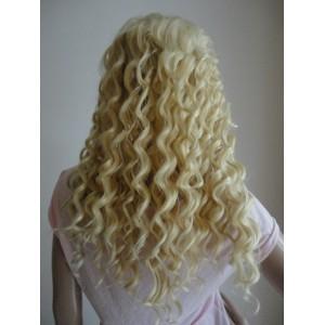 Front Lace Wig 100% cheveux Indien Deep Wave