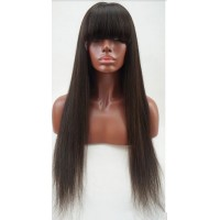 Full Lace Wig 100% cheveux Malésien Straight