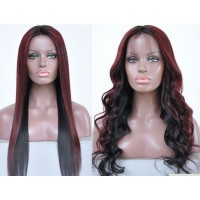 Full Lace Wig 100% cheveux Indien Water wave