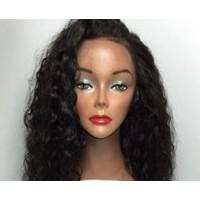Front Lace Wig 100% cheveux Malésien Deep Wave